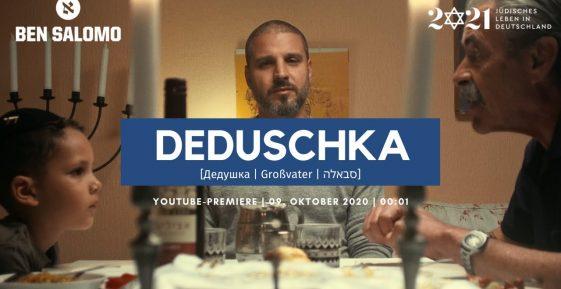 """Coverbild des Songs """"Deduschka"""" vom jüdischen Rapper Ben Salomo"""